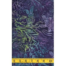 Island Batik Magical Reef 111903450 Turtles on Dark Purple, Blue and Green