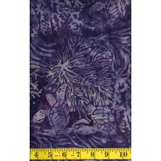 Island Batik Black Pearl 111903470 Turtles in Blue, Purple and Gray