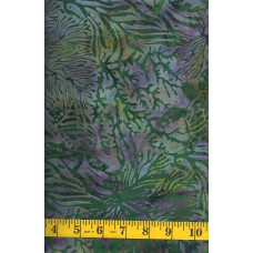 Island Batik Magical Reef 111903656 Turtles on Green with Purple Accents