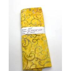 "REMNANT - Majestic Batik Saturday Market 668 - Yellow Print - 15"" x WOF"