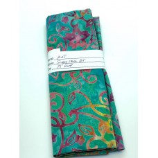 REMNANT - Majestic Batik Sunday Stroll 695 - MultiColor on Turquoise - 13 Inch x WOF