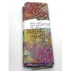REMNANT - Majestic Batik Newport-418 - Rice on Multicolor - 1/3 yd