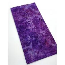 REMNANT - Robert Kaufman Purple Flowers - 1/3 yd