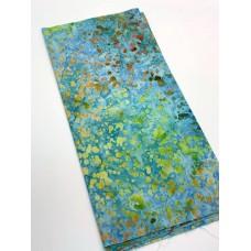 REMNANT - Robert Kaufman Multicolor Splatters on Turquoise - 1/3 yd