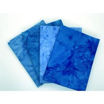 Batik Half Yard Bundle HY432 -Blue & Turquoise - 2 Yards Total