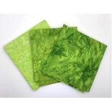 Batik One Third Yard Bundle OT313 - Lime Green Tones - 1 Yard Total