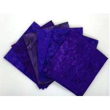 Batik One Third Yard Bundle OT605 - Purple Tones - 2 Yards Total