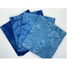 Batik One Third Yard Bundle OT404 - Turquoise & Teal Tones - 1 Yard Total