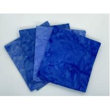 Batik One Third Yard Bundle OT405 - Turquoise & Blue Tones - 1 Yard Total