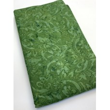 BOLT END - Benartex Batik 9154-44 - Paisley Vine Emerald - 20 Inches