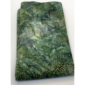 BOLT END - Robert Kaufman SRKM-19343-44 - Gold Dots on Forest Green - 1 7/8 yd