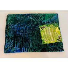 Batik Rayon Scarf by Island Batik - Blue Leaf