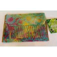 Batik Rayon Scarf by Island Batik - Multi color Sunflowers