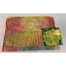 Batik Rayon Scarf by Island Batik - Multi color Leaf