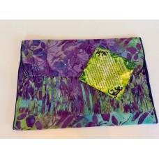 Batik Rayon Scarf by Island Batik - Purple Dragonfly