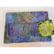 Batik Rayon Scarf by Island Batik - Purple Leaf