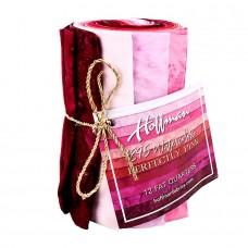 Twelve Batik Fat Quarters Hoffman 1895 - Pink Tones