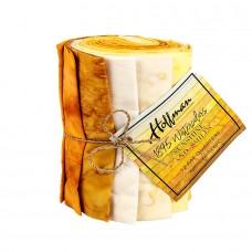Twelve Batik Fat Quarters Hoffman 1895 - Yellow Tones