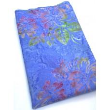 BOLT END - Benartex Batik 9172-50 Multicolor Flowers on Blue - 20 Inches