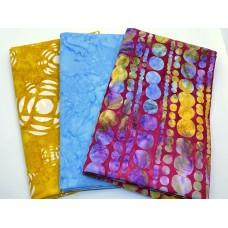 3 Yard Batik Bundle 3YD180 - Yellow Turquoise Red