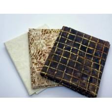 Batik Half Yard Bundle HY388 - Brown Cream - 1.5 Yards Total