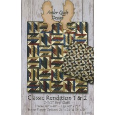 Classic Rendition 1 & 2 Pattern by Antler Quilt Design - Jelly Roll & Scrap Friendly