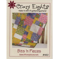 Crazy Eights Pattern by Bits 'n Pieces - uses just 8 Fat Quarters