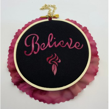 """Believe 4"""" Laser Kit  - No Sew!   Complete kit with fabric and hanging hardware."""