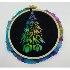 "Christmas Tree 4"" Laser Kit  - No Sew!   Complete kit with fabric and hanging hardware."