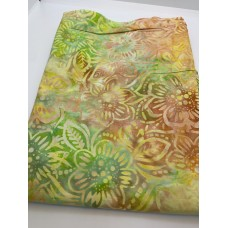 BOLT END - Wilmington Batavian Batik 22134-587 Yellow Orange Green Flowers - 31 Inches