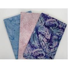 3 Yard Batik Bundle 3YD105 - Pink, Blue, Turquoise