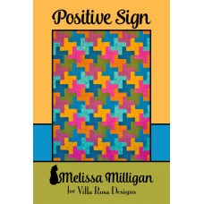 Positive Sign pattern card by Villa Rosa Designs - by Melissa Milligan