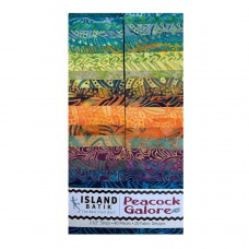 """Island Strip Pack from Island Batik - (40) 2 1/2"""" Strips - Peacock Galore Collection"""