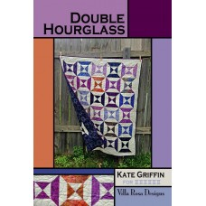 Double Hourglass pattern card by Villa Rosa Designs -Jelly Roll & Scrap Friendly