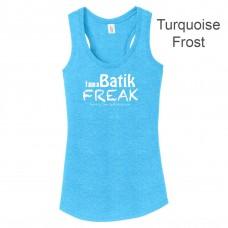 Batik Freak Womens Tri Racerback Tank Top