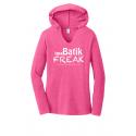 Batik Freak Long Sleeve Hooded V-Neck Shirt