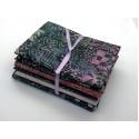 Batik Half Yard Bundle HY517 - Greens and Pinks - 2 1/2 Yards Total