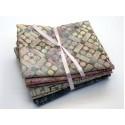 Batik Half Yard Bundle HY515 - Greens, Pinks and Creams - 2 1/2 Yards Total