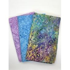 3 Yard Batik Bundle 3YD118 - Pink amd Turquoise
