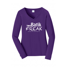 Batik Freak Long Sleeve V-Neck Shirt