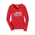 Batik Freak Long Sleeve V-Neck Shirt