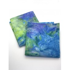 BOLT END - Indonesian Batik Sea Glass Blender - 1/2 yd