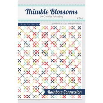 Rainbow Connection pattern by Thimble Blossoms - Honey Bun friendly