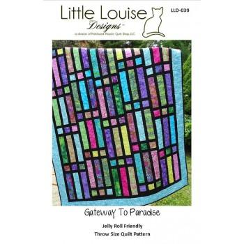 Gateway to Paradise pattern by Little Louise Designs - Jelly Roll/Scrap Friendly