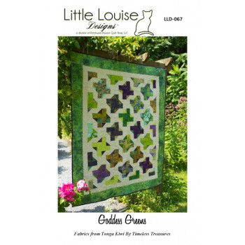 Goddess Greens pattern by Little Louise Designs - 6 Pack/Jelly Roll/Scrap Friendly