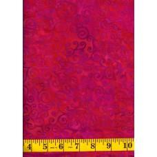 Island Batik Slushy IS14U-R1 Purple Curly Cues on a Pink Orange Background