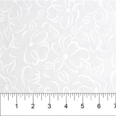 Banyan Batik 81200-10 White on White Flower Print