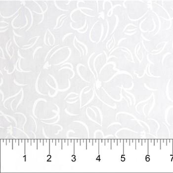 Banyan Batik 81200-10 White on White Flower Print
