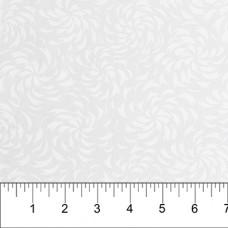 Banyan Batik 81201-10 White on White Spiral Print