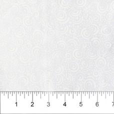 Banyan Batik 81203-10 White on White Circles Print